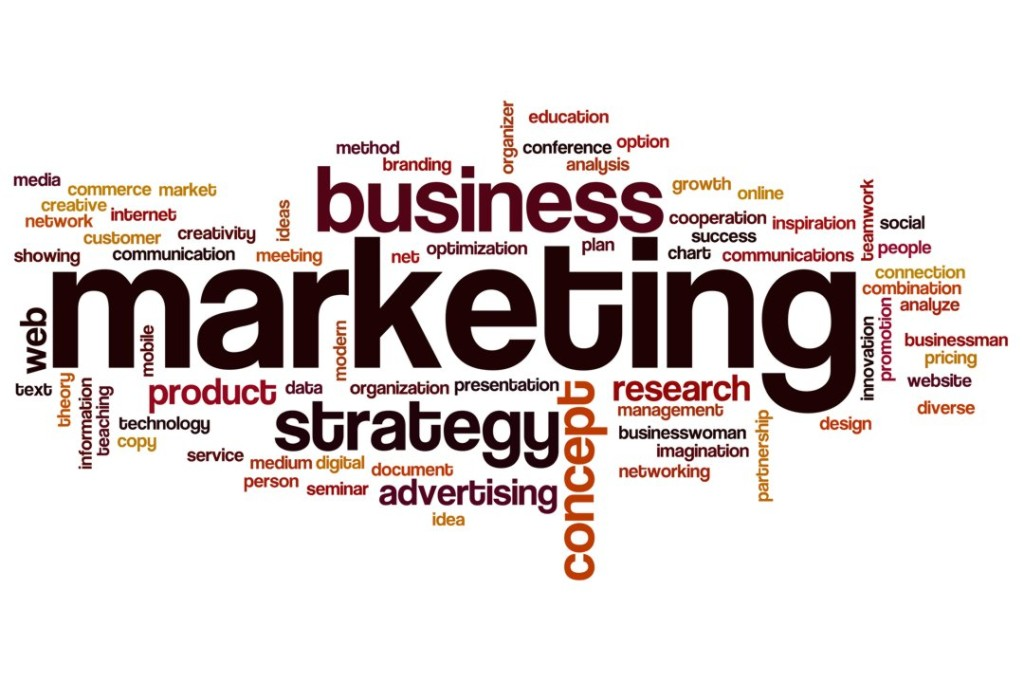 Marketing word cloud concept