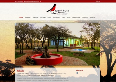Crimson Bush Lodge – Dinokeng Game Reserve – Pretoria
